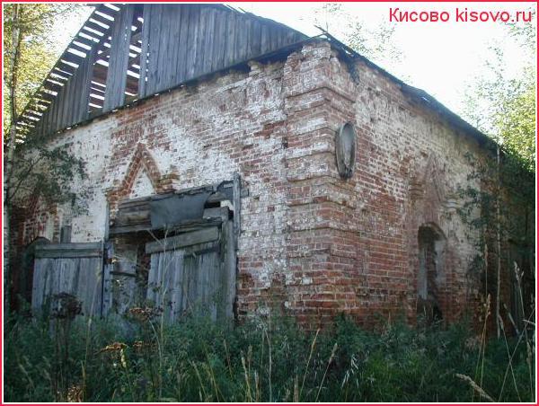Разрушенная церковь в Курилово
