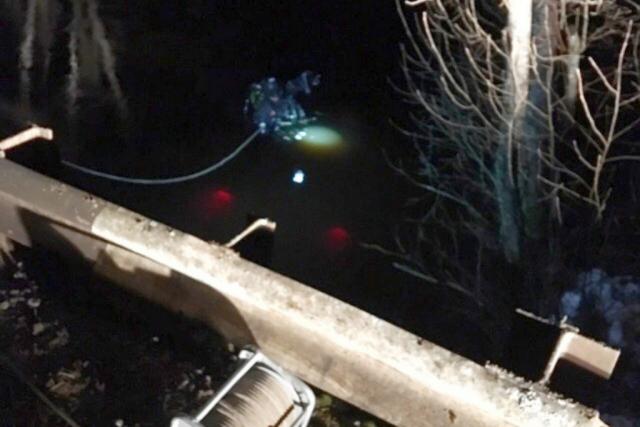 У деревни Степанково с моста упала машина, водитель погиб
